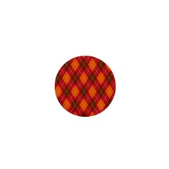 Argyle Pattern Background Wallpaper In Brown Orange And Red 1  Mini Magnets