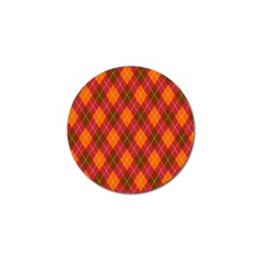 Argyle Pattern Background Wallpaper In Brown Orange And Red Golf Ball Marker (10 Pack)