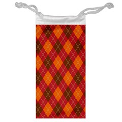 Argyle Pattern Background Wallpaper In Brown Orange And Red Jewelry Bag
