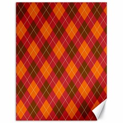 Argyle Pattern Background Wallpaper In Brown Orange And Red Canvas 18  X 24