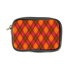 Argyle Pattern Background Wallpaper In Brown Orange And Red Coin Purse