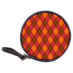 Argyle Pattern Background Wallpaper In Brown Orange And Red Classic 20 Cd Wallets