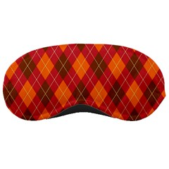 Argyle Pattern Background Wallpaper In Brown Orange And Red Sleeping Masks