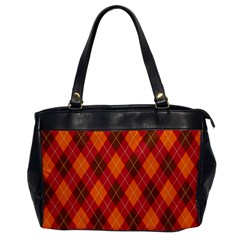 Argyle Pattern Background Wallpaper In Brown Orange And Red Office Handbags