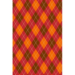 Argyle Pattern Background Wallpaper In Brown Orange And Red 5 5  X 8 5  Notebooks