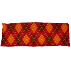 Argyle Pattern Background Wallpaper In Brown Orange And Red Body Pillow Case Dakimakura (Two Sides)
