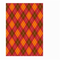 Argyle Pattern Background Wallpaper In Brown Orange And Red Large Garden Flag (two Sides)
