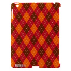 Argyle Pattern Background Wallpaper In Brown Orange And Red Apple iPad 3/4 Hardshell Case (Compatible with Smart Cover)
