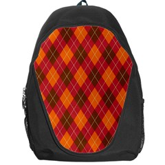 Argyle Pattern Background Wallpaper In Brown Orange And Red Backpack Bag