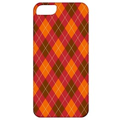 Argyle Pattern Background Wallpaper In Brown Orange And Red Apple Iphone 5 Classic Hardshell Case