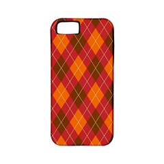 Argyle Pattern Background Wallpaper In Brown Orange And Red Apple Iphone 5 Classic Hardshell Case (pc+silicone)