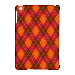 Argyle Pattern Background Wallpaper In Brown Orange And Red Apple iPad Mini Hardshell Case (Compatible with Smart Cover)