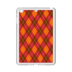 Argyle Pattern Background Wallpaper In Brown Orange And Red iPad Mini 2 Enamel Coated Cases