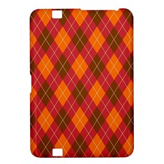 Argyle Pattern Background Wallpaper In Brown Orange And Red Kindle Fire HD 8.9