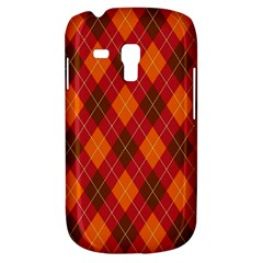 Argyle Pattern Background Wallpaper In Brown Orange And Red Galaxy S3 Mini