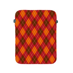 Argyle Pattern Background Wallpaper In Brown Orange And Red Apple Ipad 2/3/4 Protective Soft Cases