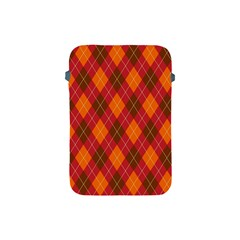 Argyle Pattern Background Wallpaper In Brown Orange And Red Apple iPad Mini Protective Soft Cases