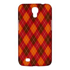 Argyle Pattern Background Wallpaper In Brown Orange And Red Samsung Galaxy Mega 6 3  I9200 Hardshell Case