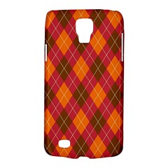 Argyle Pattern Background Wallpaper In Brown Orange And Red Galaxy S4 Active