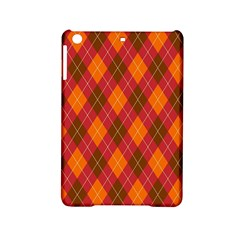 Argyle Pattern Background Wallpaper In Brown Orange And Red iPad Mini 2 Hardshell Cases