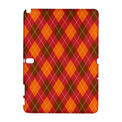 Argyle Pattern Background Wallpaper In Brown Orange And Red Galaxy Note 1