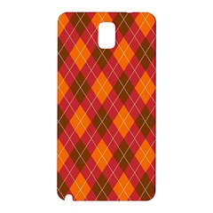 Argyle Pattern Background Wallpaper In Brown Orange And Red Samsung Galaxy Note 3 N9005 Hardshell Back Case