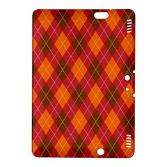 Argyle Pattern Background Wallpaper In Brown Orange And Red Kindle Fire HDX 8.9  Hardshell Case