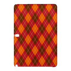 Argyle Pattern Background Wallpaper In Brown Orange And Red Samsung Galaxy Tab Pro 10.1 Hardshell Case