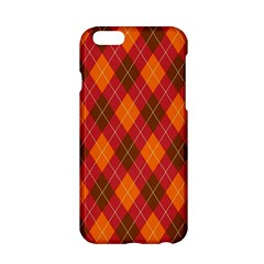 Argyle Pattern Background Wallpaper In Brown Orange And Red Apple iPhone 6/6S Hardshell Case