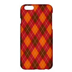 Argyle Pattern Background Wallpaper In Brown Orange And Red Apple Iphone 6 Plus/6s Plus Hardshell Case