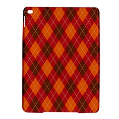 Argyle Pattern Background Wallpaper In Brown Orange And Red iPad Air 2 Hardshell Cases