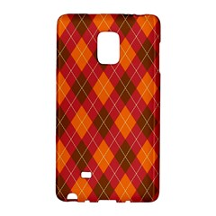 Argyle Pattern Background Wallpaper In Brown Orange And Red Galaxy Note Edge