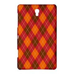 Argyle Pattern Background Wallpaper In Brown Orange And Red Samsung Galaxy Tab S (8 4 ) Hardshell Case