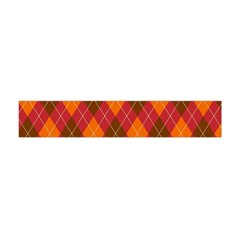 Argyle Pattern Background Wallpaper In Brown Orange And Red Flano Scarf (Mini)