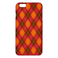 Argyle Pattern Background Wallpaper In Brown Orange And Red iPhone 6 Plus/6S Plus TPU Case