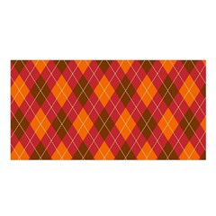 Argyle Pattern Background Wallpaper In Brown Orange And Red Satin Shawl