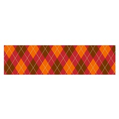 Argyle Pattern Background Wallpaper In Brown Orange And Red Satin Scarf (Oblong)
