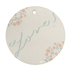 Love Card Flowers Ornament (round)