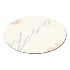 Love Card Flowers Oval Magnet