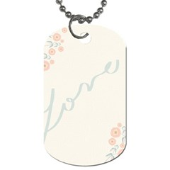 Love Card Flowers Dog Tag (Two Sides)