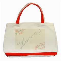 Love Card Flowers Classic Tote Bag (red)