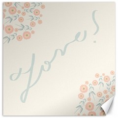 Love Card Flowers Canvas 20  X 20