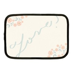 Love Card Flowers Netbook Case (medium)