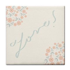 Love Card Flowers Face Towel