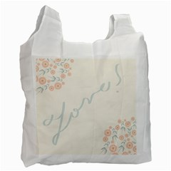 Love Card Flowers Recycle Bag (two Side)