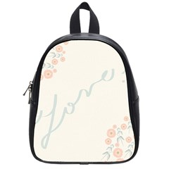Love Card Flowers School Bags (small)