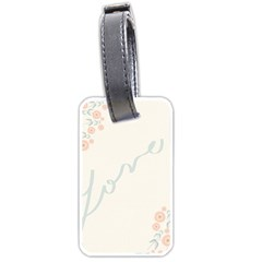 Love Card Flowers Luggage Tags (two Sides)