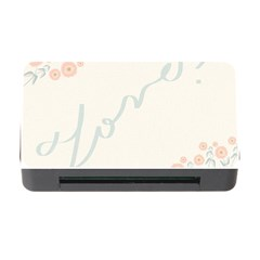 Love Card Flowers Memory Card Reader with CF
