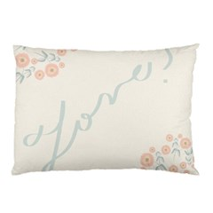 Love Card Flowers Pillow Case (Two Sides)