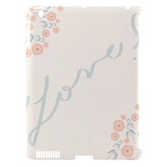 Love Card Flowers Apple iPad 3/4 Hardshell Case (Compatible with Smart Cover)